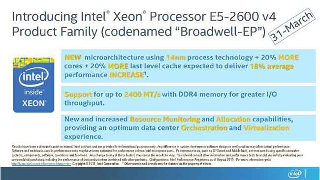 Intel launching Broadwell-EP V4