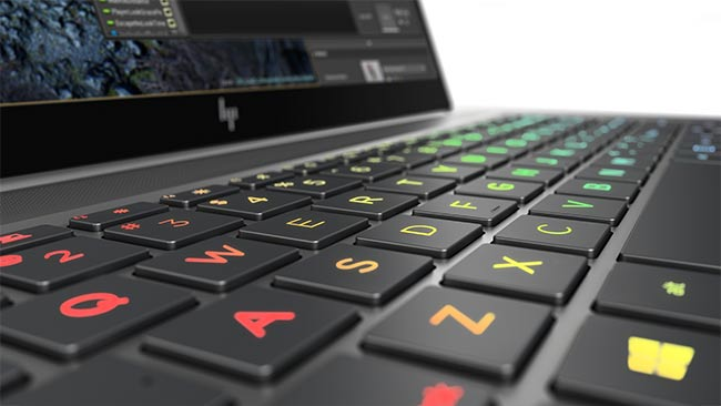 The ZBook Studio has a new color-configurable keyboard